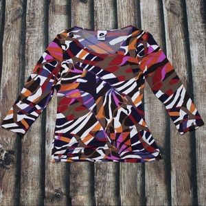 🎀3/$30 Multicoloured Abstract Blouse